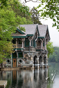 adirondack handcrafted log and stone boathouse